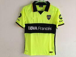 Wholesale fluorescent jerseys - 2014 boca third Fluorescent green jerseys retor jerseys Riquelme classic sports shirts Sports clothes Roman camisetas
