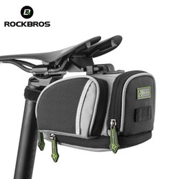 mtb gears Coupons - ROCKBROS Cycling Saddle Bags Mountain Road Bike MTB Seat Post Bag Fixed Gear Fixie Cycle Rear Bags Bicycle Accessories 3 Colors