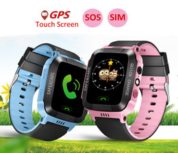Wholesale apple babies - Original Y21 GPS Children Smart Watch With Camera Flashlight Baby Watch SOS Call Location Device Tracker For Kid Safe
