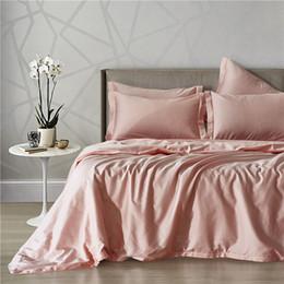 Edredón rosa sólido online-Nuevos juegos de sábanas Flaming Pink Solid Color 60 # Long-Staple Cotton Duver Edredón funda de almohada Usa King Queen tamaño colcha