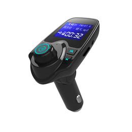 Deutschland T11 Bluetooth Car Kit Freisprecheinrichtung FM Transmitter MP3-Musik-Player Dual USB Car Charger TF-Karte U Disk Player mit Kleinpaket Versorgung