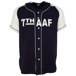 2019 fuerza aérea de la vendimia 7mo Ejército de la Fuerza Aérea 1944 Road Jersey 100% bordado cosido logotipos Vintage camisetas de béisbol personalizado cualquier nombre cualquier número envío gratuito fuerza aérea de la vendimia baratos