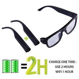 occhiali da sole pinhole Sconti Occhiali da sole con fotocamera Pinhole Eyewear per videoregistratore HD 1920 * 1080P Vivavoce Wifi Smart Glasses Camcorder Live Show (Android / IOS)