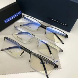 39d3c64c351e Brand Lindber 9886 glasses male pure-titanium half-rim glasses 52-18-140  ultra-light prescription glasses no-screw designer full-set case