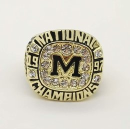 Wholesale Nationals Band - Wholesale Good Quality 1997 Football National michigan Championship Ring replica ring