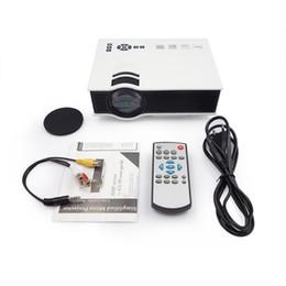 menor tv lcd Desconto Profissão UNIC UC40 UC40 + Projetor Mini Portátil 3D HDMI Home Theater Beamer Projetor Multimídia Full HD 1080 P Video Player
