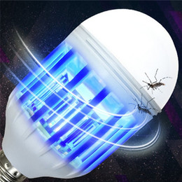 Wholesale gardening pests - Electric Trap Light Indoor lighting 15w E27 bulbs LED Mosquito Killer Lamp Bulb Electronic Anti Insect Bug Wasp Pest Fly Outdoor Greenhouse