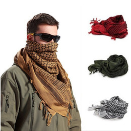 Wholesale Muslim Fashion Men - Unisex Muslim Hijab Army Military Tactical Scarves Men Thin Palestine Arab Scarf Windproof Camping Desert Hiking Plaid Shawl