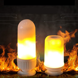 Wholesale fire bulbs - E27 LED Flame Effect Fire Light Bulbs for Decoration Lighting on Christmas Halloween Holiday Party,warm white