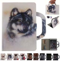 2019 fälle für ipad mini tiere Tragbare niedlichen Tier Hund Tiger Stand Brieftasche Flip Pu Ledertasche für iPad 5/6/8 / 9.7 2017 Pro iPad Mini 123 4 Samsung T280 T350 T550 T580 rabatt fälle für ipad mini tiere