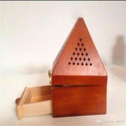 Templo de decoracion online-Tailandia torre de madera caja de quemador de incienso Retro dormitorio decoración del hogar Templo de lámparas de fragancia con sistema de encendido 19 9rx bb
