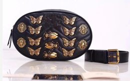 Wholesale Fanny Packs - Hot brand designers Insect patterns Waist Bags women Fanny Pack bags bum bag Belt Bag men Women Money Phone Handy Waist Purse Solid Travel B