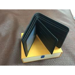 Mens brieftasche freies verschiffen 2018 herren leder mit brieftaschen für männer geldbörse mode männer kurze brieftaschen mit box von Fabrikanten