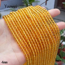 Wholesale Natural Amber Necklaces - Yoowei Amber Loose Beads 3mm 4mm 5mm 6mm 7mm Baltic Natural Round Amber Bead Precious Stone for Diy Jewelry Bracelets Necklaces