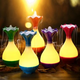 Wholesale Atomizers Led - essential oil diffuser Ultrasonic Aromatherapy with LED Night Light Mist Purifier atomizer USB Air Humidifier 5 color In stock humidifier