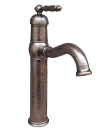 Wholesale Faucet Levers - Single Lever Antique Copper Swivel Kitchen Sink bathroom basin Mixer Tap Faucet Cnn018