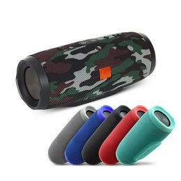 Wholesale Portable Box Speakers - 2018 Fashion charge 3 splashproof portable wireless bluetooth mini speaker high-quality built-in 1200mAh powerbank with logo and retail box