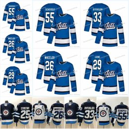 f9fecde5e17 Mens 29 Patrik Laine Jersey New Season 26 Blake Wheeler 33 DustinByfuglien  55 Mark Scheifele 25 Stastny 37 Winnipeg Jets Maglie da hockey sconti nuova  mens ...