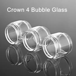 Serbatoio di vetro in corona online-Misura il serbatoio del tubo di vetro della bolla di sostituzione della corona 4 di Uwell che spedice l'accessorio ecig del carro armato di vetro del cappuccio del vape di trasporto