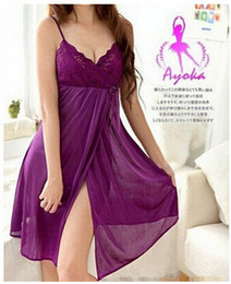 Wholesale Sexy Baby Doll Costumes - Baby Doll Sexy Lingerie Plus Size Transparent Lace Sleepwear Porn Dress Deep V Neck Hot Erotic Babydoll Sexy Underwear Costumes