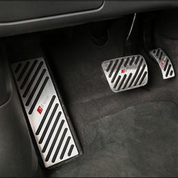 Для нескользящей Audi A4 A5 A6 A7 A8 Q5 Q7 ноги педаль Pad крышка подходит газовый тормоз отдых педали комплект акселератора стальные крышки cheap gas pedal pads от Поставщики подушки для педали газа