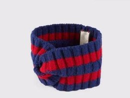 Wholesale american green cross - Brand wool Cross Headband High quality Luxury Designer Elastic green blue red Turban Hairband For Women Girl Retro Headwraps Gifts