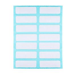 Этикетки онлайн-Стикеры поста 2019 Note White Label Пустые самоклеящиеся липкие бирки Craft Stickers 12 Sheets / set