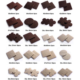 Wholesale Table Leg Floor Protectors - Felt Pad Mat Gasket Cushion Table Chair Sofa Furniture Leg Feet Appliance Protection Floor Abrasion Protector Guard Brown Beige