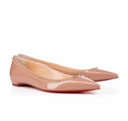 Donne di alta qualità scarpe a punta punte scarpe da ballo sexy signore fondo rosso anjalina piatto donna scarpe di marca di lusso ballerine festa di nozze cheap wedding ballerinas shoes da scarpe da ballerine da nozze fornitori
