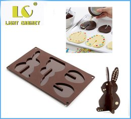 Wholesale Silica Gel Mould - LC 3D Silicone cake mold chocolate silica gel mould easter rabbits eggs