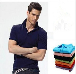 Wholesale Blue T Shirts For Men - 2018 New Luxury Brand embroidery Big small Horse crocodile tommy t shirts for men tommy Fashion polo shirt men polo shirt