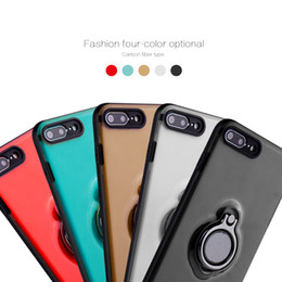 Wholesale Note Free Case - Newest Ultra Thin Feel Carbon Fiber Type Phone Back Cover Case with 360 Degree Free Rotaion Holder for Iphone 6 6s 7 8 8plus x Samsung Note