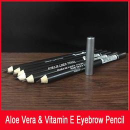 forro marrom Desconto Lápis de olho / lábio lápis com apontador de lápis Aloe Vera Vitamina E preto / cor marrom impermeável lápis de olho delineador 1.5g 0.04oz