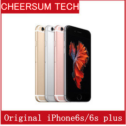 Wholesale 16gb Phones - 100% Original 4.7''5.5''Apple iPhone 6S Plus without Touch ID IOS 9 Dual Core 2GB RAM 16GB 64GB 128GB ROM 12MP Camera refurbished Cell Phone