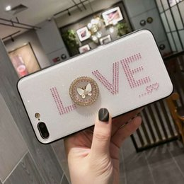 Wholesale crown iphone case cover - Fashion Luxury Brand Rhinestone 3D Love Crown Queen Glitter Phone Cover Case Stylish Shinning Shell for iPhone X 10 4.7 5.5