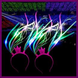 2019 couronne faveurs Led Couronne Noodle Bandeau Flash Party Costume Fantaisie Robe Bling Light Up Tresses Bandeau De Noël Faveurs Festivales Cheveux Accessoires AAA811 couronne faveurs pas cher