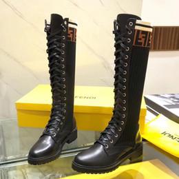 designer mulheres coxa mulheres Desconto Botas das mulheres do desenhador de moda de luxo coxa alta botas senhoras de luxo das mulheres sapatos outono e inverno da moda botas altas do joelho A19