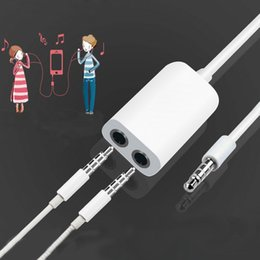 Wholesale Dual Splitter - 3.5mm Earphone Headphone Male 1 to 2 Dual Female Y Splitter Stereo Audio Cable Adapter Jack for universal smartphone CAB255