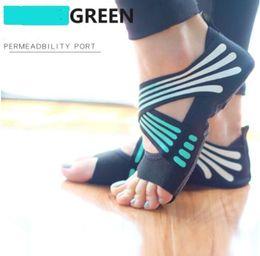 Scarpe da ginnastica yoga online-Scarpe da ginnastica per donna soft bottom anti-skid principianti indoor per adulti aereo fitness fitness open-toed scarpe in tessuto traspirante