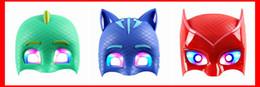 Canada 2018 vente au détail cadeaux de fête des enfants cadeaux Halloween masques PJ masques Masques Connor / Greg / Amaya pour garçons filles habiller HD1 Offre