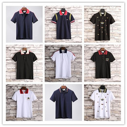 Canada Date mode hommes marque polo t-shirt broderie serpent collier classique t-shirt à manches courtes t-shirt G rayé amoureux filles femmes hommes Top Tee supplier striped tees for girls Offre