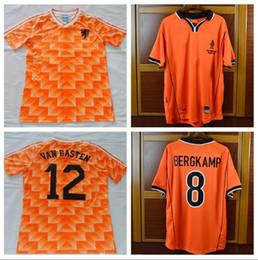1988 European Cup Classic Vintage Netherlands Home Soccer Jersey 12 VAN  BASTEN 10 Gullit 8 Bergkamp Seedorf Holland Football Shirt discount  netherlands ... c96053fda
