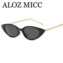 ALOZ MICC Fashion Small Cat Eye Occhiali da sole donna Unique Metal Frame Occhiali  da sole Women Shades Designer di marca Oculos A510 c490d411d0