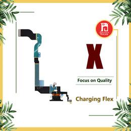 Para iphone x cobrando porto flex carregador de dados usb dock connector com fone de ouvido jack de áudio mic antena antena wifi cabo para iphoneX de