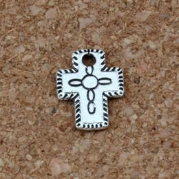 Wholesale small cross charm bracelet - Small cross Charm Pendants 250Pcs 9x12.5mm Antique Silver Jewelry DIY Fit Bracelets Necklace Earrings