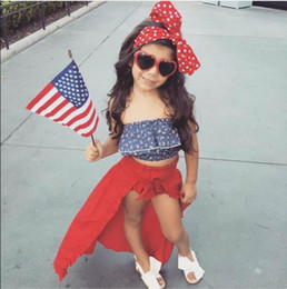 Wholesale Gril Baby - Ins 2018 new hot sale Girls Baby Clothing Girls bows Dovetail skirt Shorts Girls Summer shirt Shorts Gril Baby Clothing Infant Wear A1549