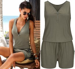 9f1fea41aef Women Summer Rompers Womens Jumpsuit Beach Casual Playsuits Plus Size  Jumpsuit For Women 2018 Beach Shorts Pants 5XL Sleeveless Y1891806