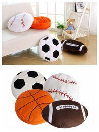 decorazione di calcio Sconti Softball Soccer Cushion Sport Baseball Cuscino Home Decor Pallone di peluche ripiene Peluche Coppa del Mondo regalo