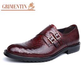 Wholesale Vintage Rubber Animals - GRIMENTIN fashion 2018 genuine leather men shoes dress black top quality casual classic vintage male shoes men basic flats size:38-44 OX1222