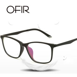 5904067cb9 OFIR New Blue Plane Specchio Ultra Light TR90 Fashion Elasticity Glasses  Frame Occhiali da sole Uomo Donna Universale Retro Glasses Frame illumina i  vetri ...